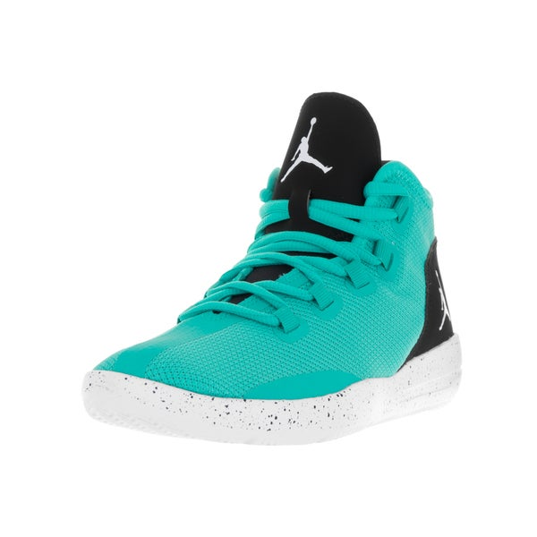 Nike Jordan Kids' Jordan Reveal Hyper Jade, Black, and White Synthetic Basketball Shoes