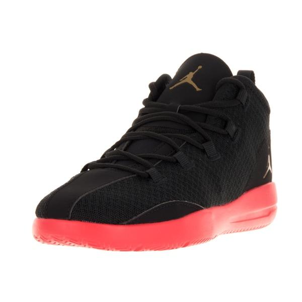 Nike Jordan Kids Jordan Reveal Bp Black/Metallic Gold Coin/Infrared 23 Basketball Shoes