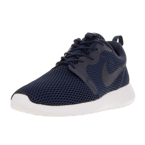 Nike Men's Roshe One Hyp Br Midnight Navy/Midnight Navy/White Running Shoe