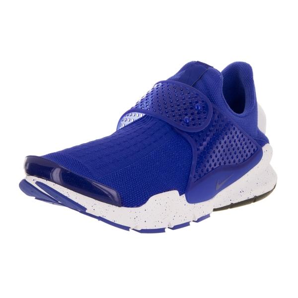 Nike Men's Sock Dart SE Racer Blue, Racer Blue, White Fabric Running Shoes