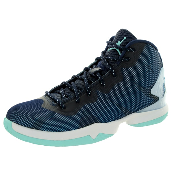 Nike Jordan Kids Super Fly Blue Plastic Basketball Shoe