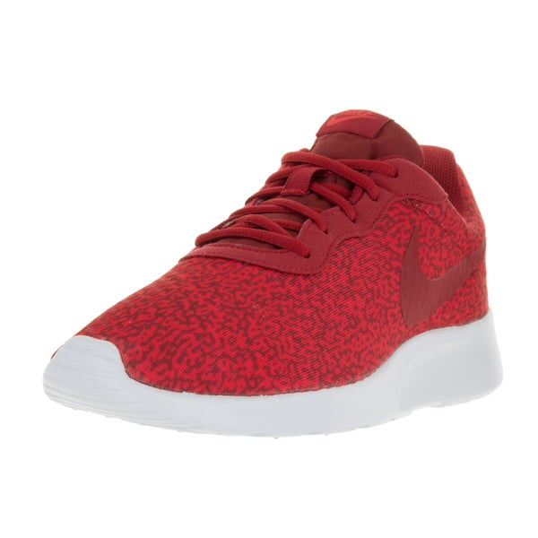 Nike Men's Tanjun Print Gym Red/Gym Red/Actn Red/White Running Shoe