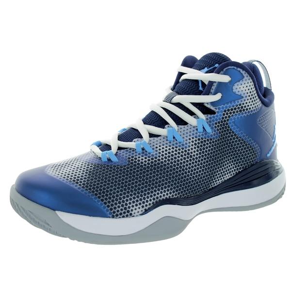 Nike Jordan Kids Jordan Super.Fly 3 BG White/Legend Blue/Mdnght Navy Basketball Shoe