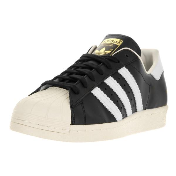 Adidas Men's Superstar 80 Originals Black1/Wht/Chalk2 Casual Shoe