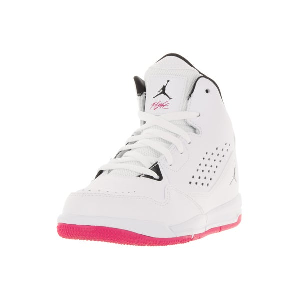 Nike Jordan Kids Jordan SC-3 GP White/Black/Vivid Pink Basketball Shoe
