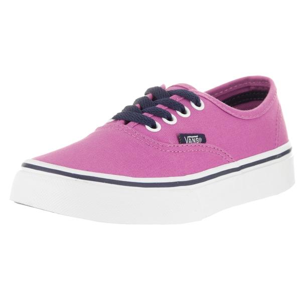 Vans Kids' Authentic (Pop) Eclipse and Rosebud Canvas Skate Shoes