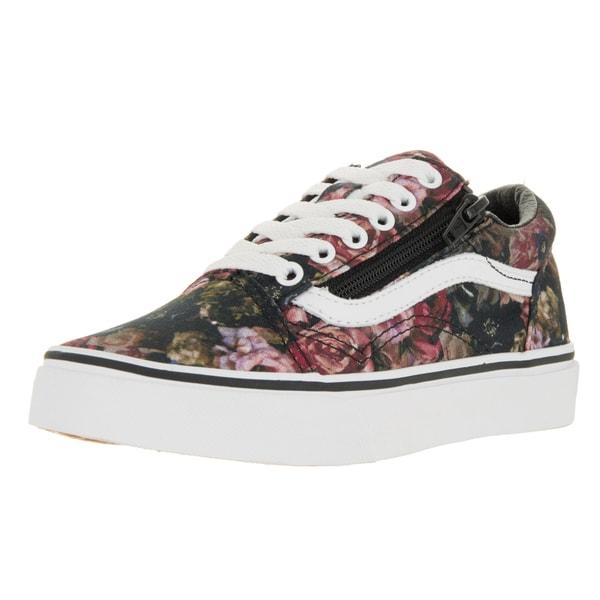 Vans Kids Old Skool Zip Moody Floral Black/True Skate Shoes