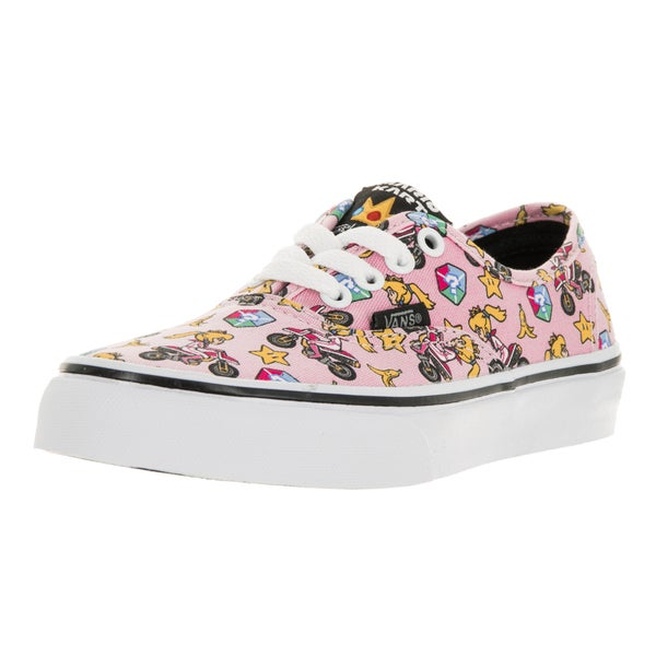 Vans Kids' Authentic Nintendo Princess Peach Pink Canvas Skate Shoes