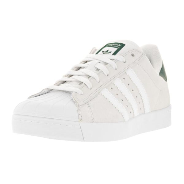 Adidas Men's Superstar Vulc Adv White Suede Casual Shoe