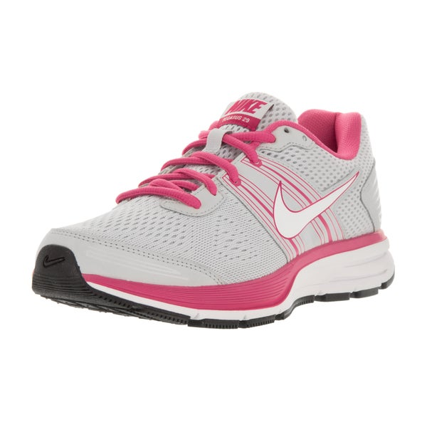 Nike Kids' Air Pegasus+ 29 (GS) Pure Platinum, White, Desert Pink Mesh Running Shoes