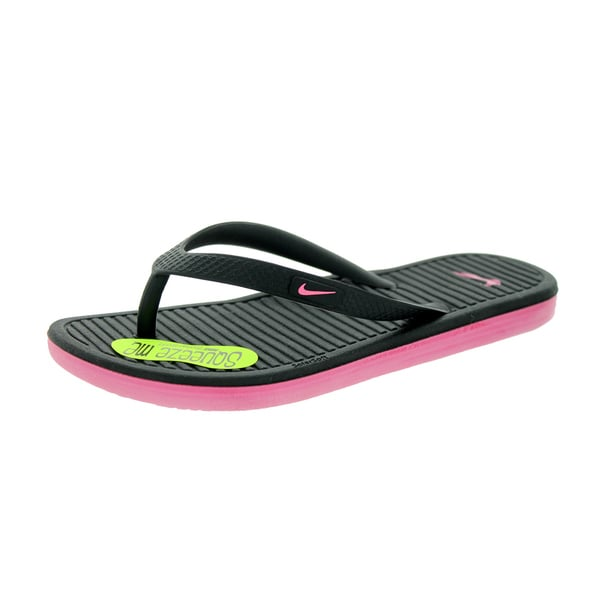 Nike Kids Solarsoft Thong 2 (GS/PS) Black/Digital Pink Sandal