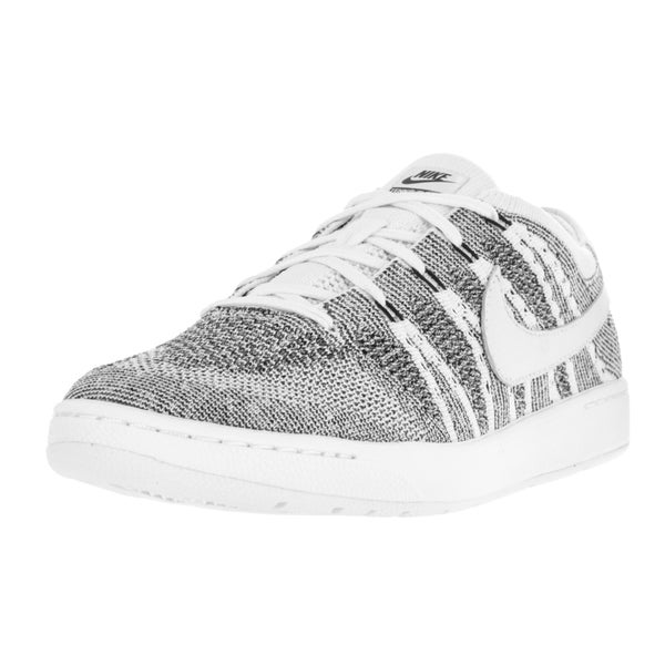 Nike Men's Tennis Classic Ultra Flyknit White/White Black Tennis Shoe