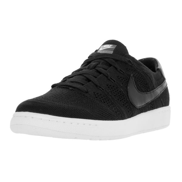 Nike Men's Tennis Classic Ultra Flyknit Black/Black White Dark Grey Tennis Shoe