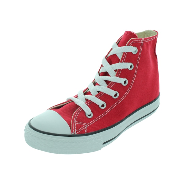 Converse Youths' Chuck Taylor All Star Red Canvas Basketball Shoes