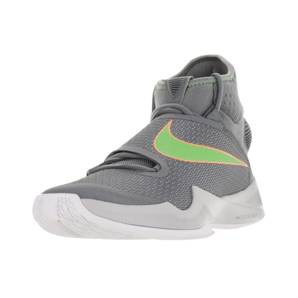 Nike Men's Zoom Hyperrev 2016 Cool Grey/Action Green/Wlf Gry Basketball Shoe
