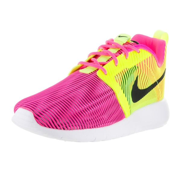 Nike Kids' Roshe One Flight Weight Hyper Pink/Black Volt White Running Shoes