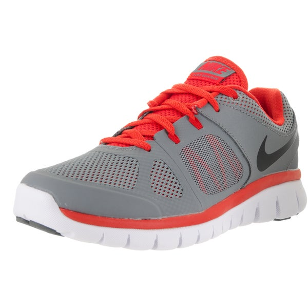 Nike Kids' Flex 2014 Rn GS Cool Grey/Black/Light Crimson/White Running Shoes