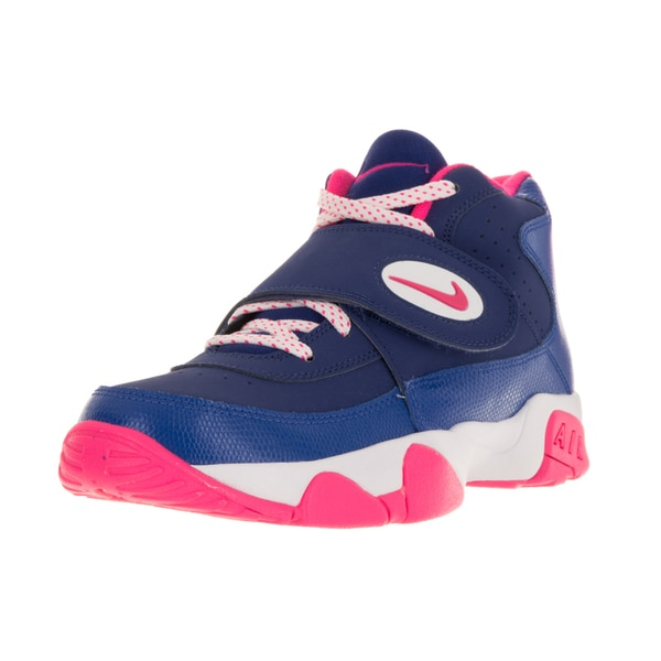 Nike Kids Air Mission Blue and Pink Leather Training Shoes