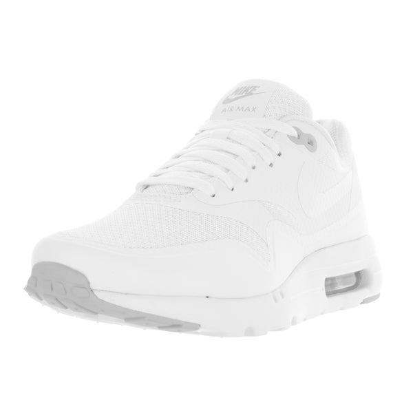 Nike Men's Air Max 1 Ultra Essential White/White/Pure Platinum Running Shoe