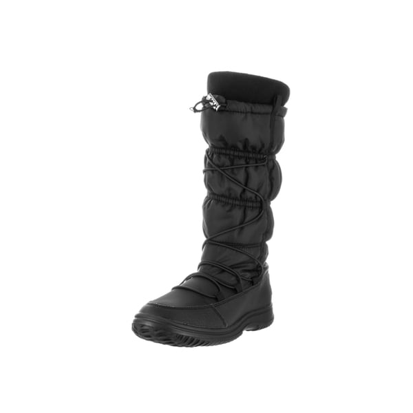 Polo Ralph Lauren Kids' Faifax Black Nylon, Rubber, and Fleece Mid-calf Snow Boots