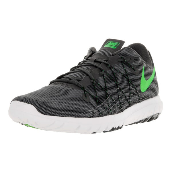 Nike Men's Flex Fury 2 Anthrct/Elctrc Grn Drk Gry Blk Running Shoe