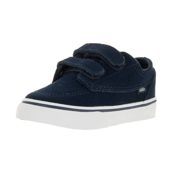 Vans Brigata V Blue Suede Skate Shoes