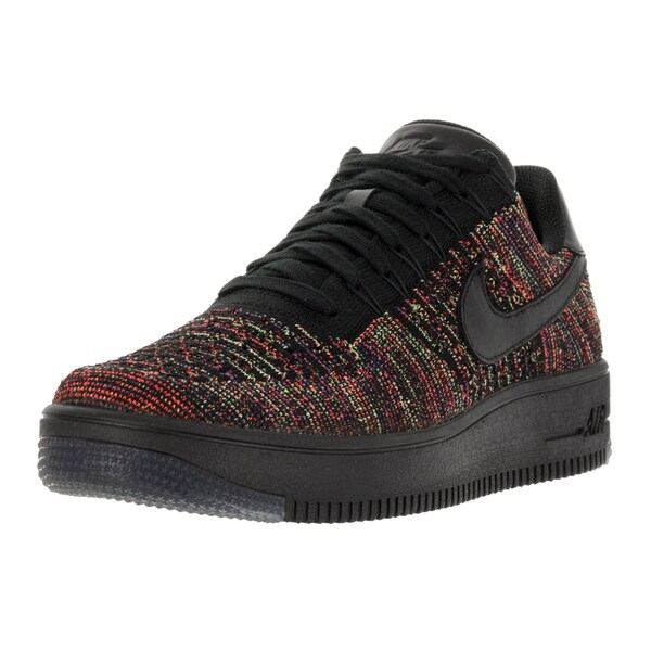 Nike Men's AF1 Ultra Flyknit Low Black/Black/Bright Crimson/Crt Prpl Basketball Shoe