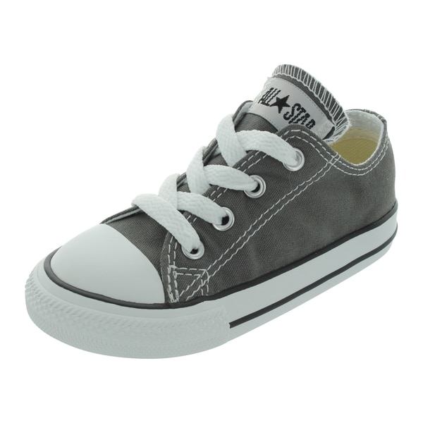 Converse Kids' Grey and White Canvas Casual Shoes