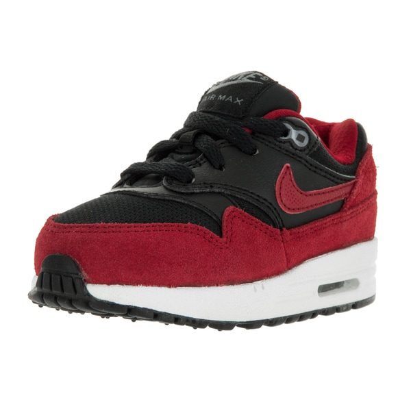 Nike Toddlers Air Max 1 (TD) Black/Gym Red/White/Cool Grey Running Shoes