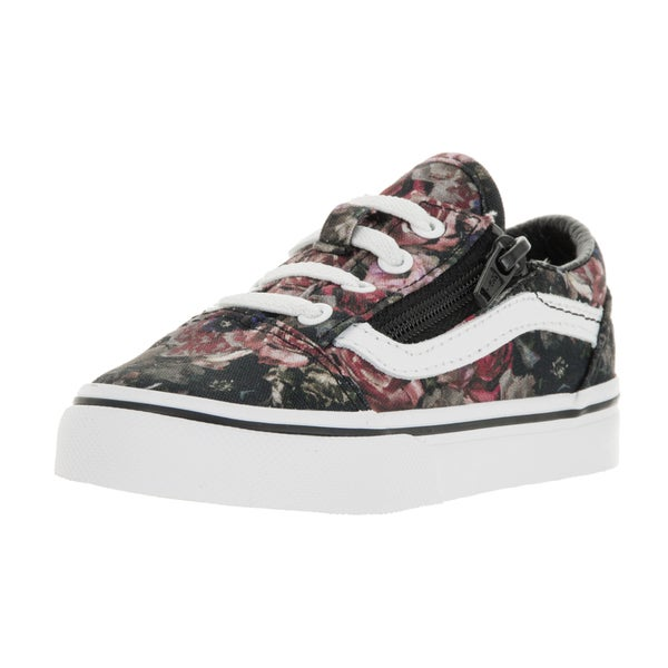 Vans Toddlers' Old Skool Zip Moody Floral Multicolor Canvas Skate Shoes