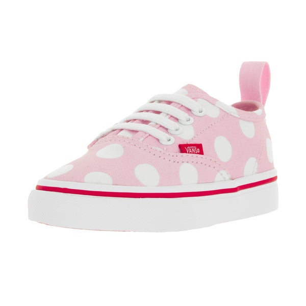 Vans Toddlers' Authentic V Lace Polka Dots Pink Mist/Fie Skate Shoes