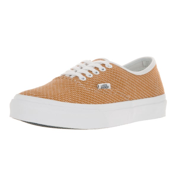 Vans Unisex Authentic Slim (Jersey) Gold/True White Skate Shoe