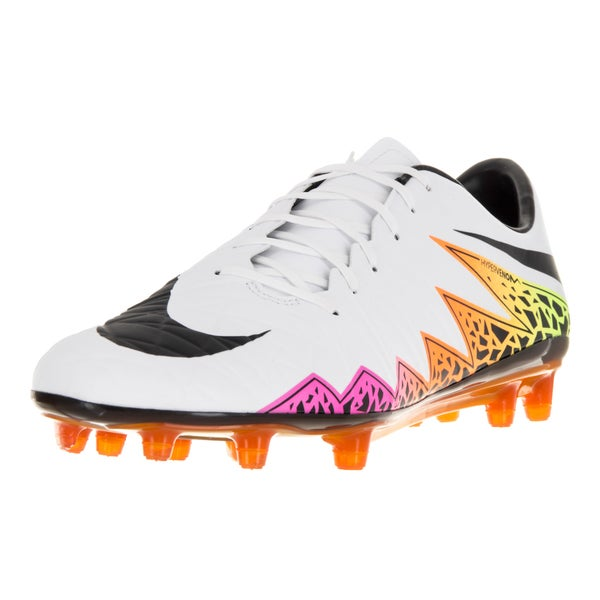 Nike Men's Hypervenom Phatal II Fg White/Black Total Orange Volt Soccer Cleat