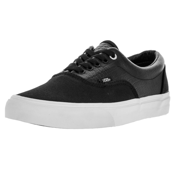 Vans Unisex Era (Croc Leather) Black/True White Skate Shoe