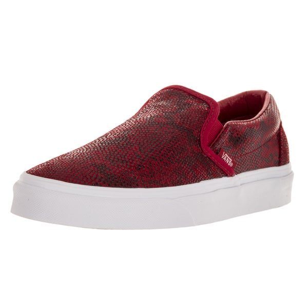 Vans Unisex Classic Slip-On (Pebble Snake) Chili Pepper Skate Shoe