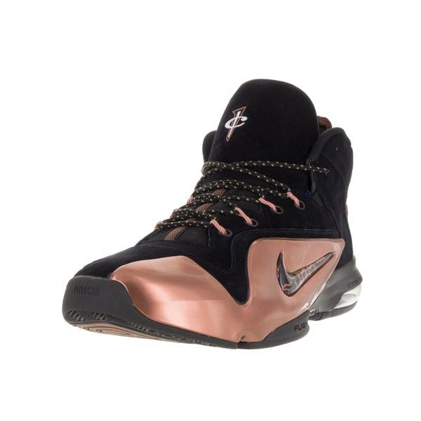 Nike Men's Zoom Penny VI Black/Black/Metallic Copper Basketball Shoe (Size 8.5)
