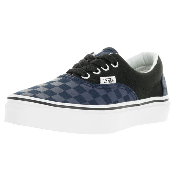 Vans Unisex Era (Checker Board) Blue and Black Canvas Skate Shoes