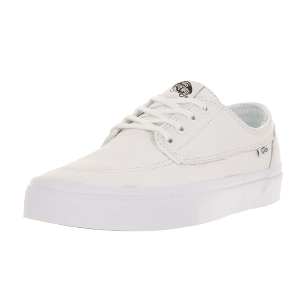 Vans Unisex Brigata True White Premium Leather Skate Shoes