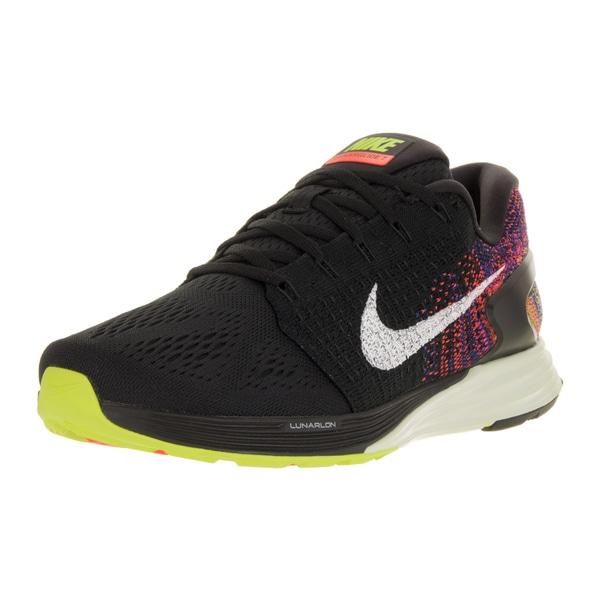 Nike Men's Lunarglide 7 Black/Sail/Bright Crimson/Volt Running Shoe