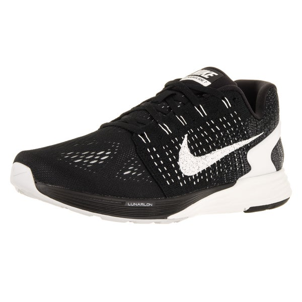 Nike Men's Lunarglide 7 Black/Summit White/Anthracite Running Shoe (Size 10.5)