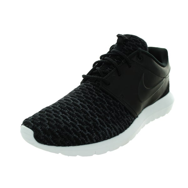 Nike Men's Roshe NM Flyknit Prm Black/Black/Dark Grey/White Running Shoe