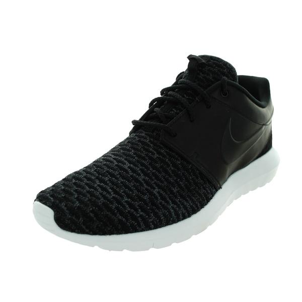 Nike Men's Roshe NM Flyknit Prm Black/Black/Dark Grey/White Running Shoe
