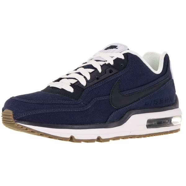 Nike Men's Air Max LTD 3 TxT Mid Navy/Obsidian/White/Gm Dark Brw Running Shoe (Size 7.5)