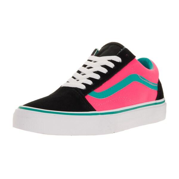 Vans Unisex Old Skool (Brite) Black/Neon Pink Skate Shoe