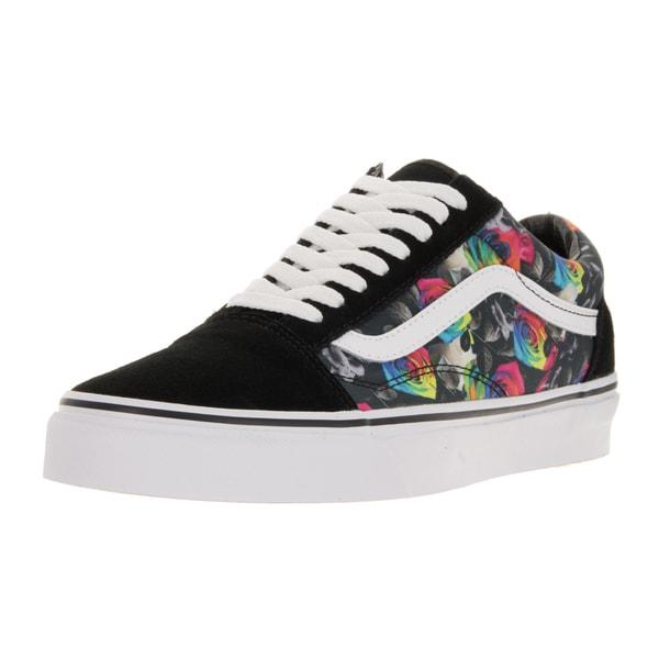 Vans Unisex Old Skool (Rainbow Floral) Black/True White Skate Shoe