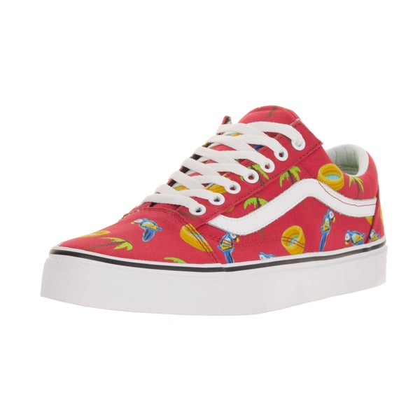 Vans Unisex Old Skool (Pool Vibes) Racing Red/T Skate Shoe