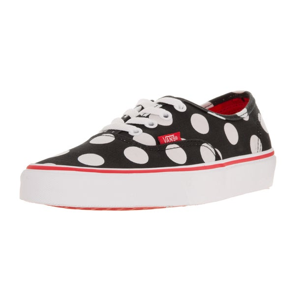 Vans Unisex Authentic (Polka Dot) Black/Fiery R Skate Shoe