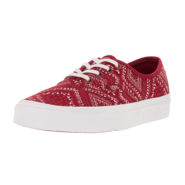 Vans Unisex Authentic (Ditsy Bandana) Chili Pep Skate Shoe