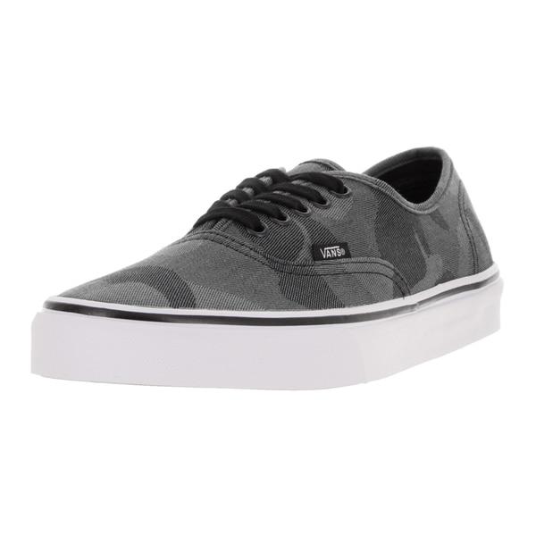 Vans Unisex Authentic (Camo Jacquard) Black/True Skate Shoe