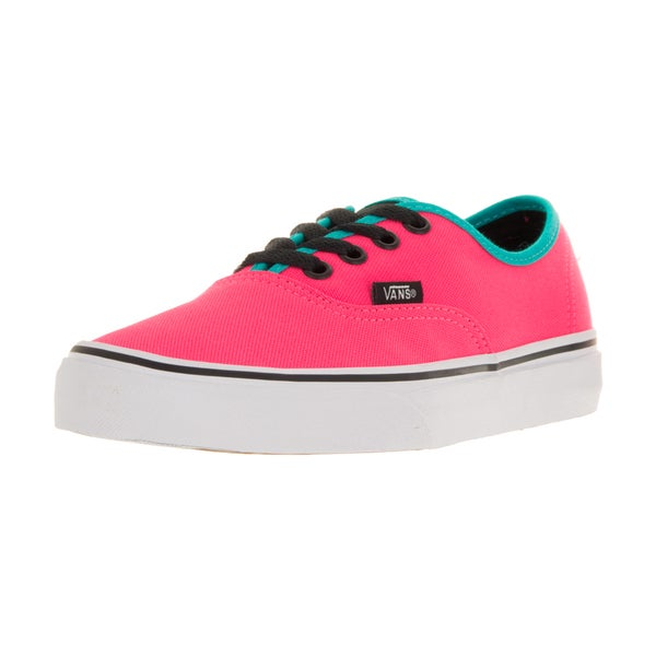 Vans Unisex Authentic (Brite) Neon Pink/Black Skate Shoe